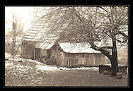 "Barn in Transylvania, built 1890<br /> <br /> Digital Print 24x36"""