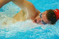 NM svømming senior/04032004/ Grottebadet i Harstad/ Ørjan Cato Johnsen BS/Bergen SLK/800m fri herrer direkte finale/ svømte så han mista badehetta<br /> FOTO: KAJA BAARDSEN/DIGITALSPORT