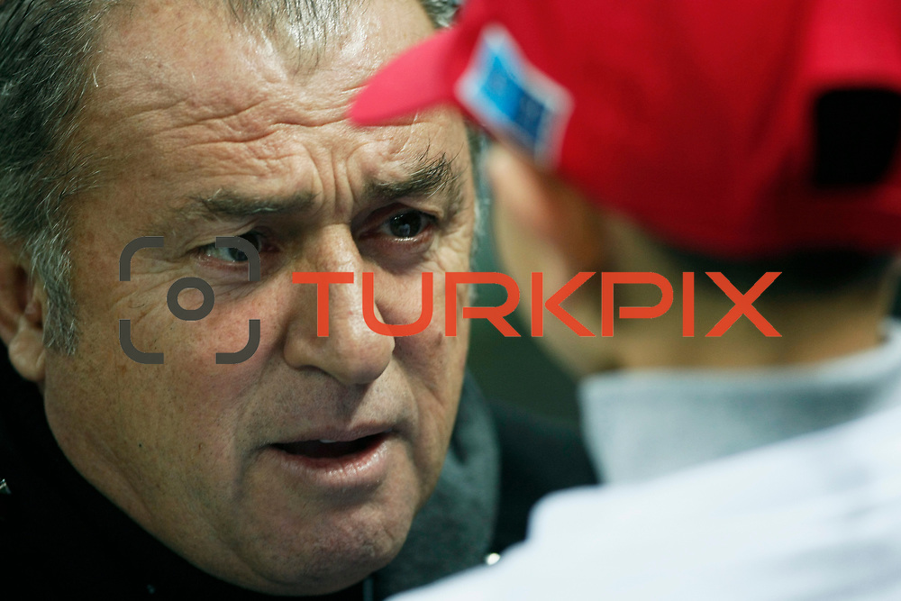 Galatasaray's coach Fatih Terim during their Turkish Super League soccer match Galatasaray between IBBSpor at the TT Arena at Seyrantepe in Istanbul Turkey on Tuesday, 03 January 2012. Photo by TURKPIX
