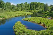 Meandering creek<br />Senneterre<br />Quebec<br />Canada