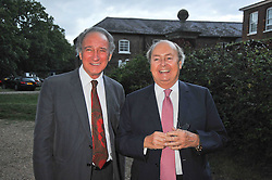 LORD WEINBERG and NED RYAN at a Summer party hosted by Lady Annabel Goldsmith at her home Ormeley Lodge, Ham, Surrey on 14th July 2009.