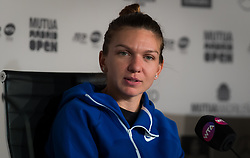 May 9, 2019 - Madrid, MADRID, SPAIN - Simona Halep of Romania talks to the media after winning her quarter-final match at the 2019 Mutua Madrid Open WTA Premier Mandatory tennis tournament (Credit Image: © AFP7 via ZUMA Wire)