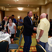 Montana Governor Brian Schweitzer speaks at a NH Democratic Party Breakfast at the 2012 Democratic National Convention