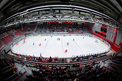 Arena during ice hockey game between Team Jesenice and HDD Telemach Olimpija in 1st leg of Finals of Slovenian National Championship 2014, on March 31, 2014 in Arena Podmezakla, Jesenice, Slovenia. Photo by Vid Ponikvar / Sportida