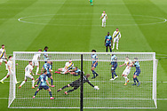 Wycombe Wanderers goalkeeper Ryan Allsop (1) makes a save to keep the Wycombe goal advantage during the EFL Sky Bet League 1 Play Off Final match between Oxford United and Wycombe Wanderers at Wembley Stadium, London, England on 13 July 2020.