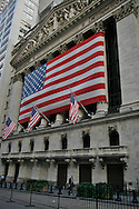 American Flag on the the Stock Exchange