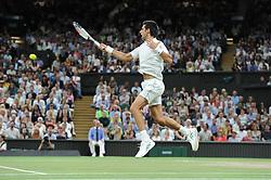 July 13, 2018 - Angleterre - Wimbledon - Novak Djokovic Serbie (Credit Image: © Panoramic via ZUMA Press)