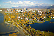 Coastal trail runs along the shores of Cook Inlet with Westchester Lagoon and provides great recreational opportunites for the people of Anchorage Alaska