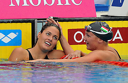 15.08.2010, Budapest, Ungarn, HUN, Schwimmeuropameisterschaften, Budapest 2010, im Bild Katinka Hosszu (HUN) 200m butterfly gold medal and Zsuzsanna Jakabos (HUN) silver medal.Swimming European Championships Budapest 2010 - Campionati Europei di Nuoto Budapest 2010.Swimming finals - Finali di nuoto.EXPA Pictures © 2010, PhotoCredit: EXPA/ InsideFoto/ Giorgio Perottino +++++ ATTENTION - FOR AUSTRIA AND SLOVENIA CLIENT ONLY +++++.