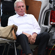 24 July 2021, Trafalgar London. Speaker David Icke in London to oppose covid vaccines and government restrictions, London, UK.