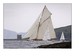 Mariquita and spectator boats heading past little Cumbrae...The Round Cumbraes race at Larsg starting the 3rd Fife Regatta...* The Fife Yachts are one of the world's most prestigious group of Classic .yachts and this will be the third private regatta following the success of the 98, .and 03 events.  .A pilgrimage to their birthplace of these historic yachts, the 'Stradivarius' of .sail, from Scotland's pre-eminent yacht designer and builder, William Fife III, .on the Clyde 20th -27th June.   . ..More information is available on the website: www.fiferegatta.com . .Press office contact: 01475 689100         Lynda Melvin or Paul Jeffes