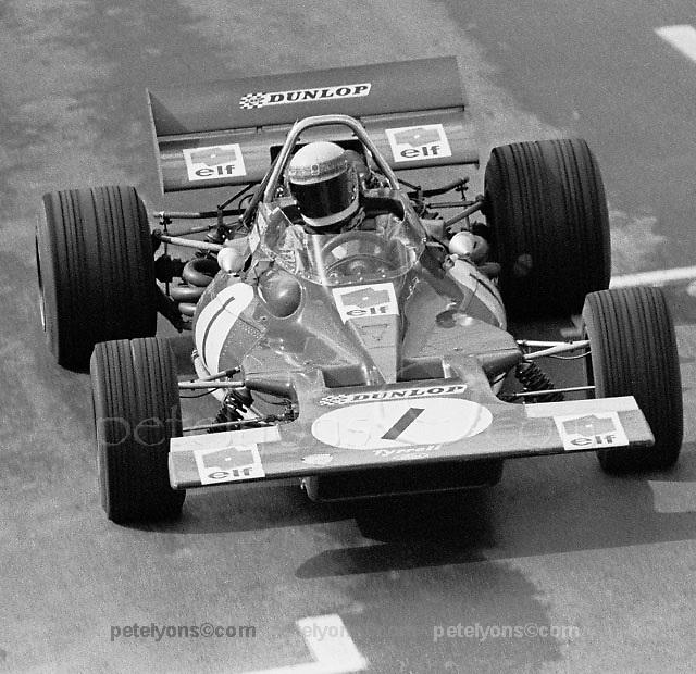 Jackie Stewart's Tyrrell 001 at US Grand Prix, Watkins Glen, 1970.