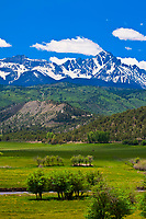 Ridgway, Colorado USA (with the Sneffles Range behind)