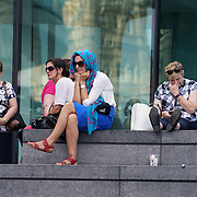London,England,UK: 7th Aug 2016: Hundreds of attends the Marking the Opening of the Rio Olympics 2016 with live performances, Carnival food and drinks at The Scoop,London,UK. Photo by See Li