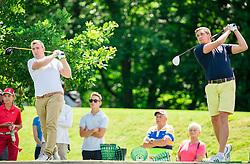 Dejan Ljubenovic and Luka Ceh of Slovenia during Slovenia Long Drivers European Tour  Championship on July 5, 2014 in  Golf Arboretum Ljubljana, Volcji Potok, Slovenia. Photo By Vid Ponikvar / Sportida