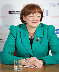 LIVERPOOL, ENGLAND - Wednesday, April 18, 2012: Liverpool City Council Councillor Roz Gladden (Deputy Leader and Cabinet Member for Adult Social Care and Health) during a press conference to launch of the 2012 Liverpool International Tennis Tournament at the Hilton Hotel. (Pic by David Rawcliffe/Propaganda)