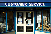 Customer Service entrance Jewson builders, Woodbridge, Suffolk, England