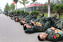 August 15, 2017 - China - CHINA-(EDITORIAL USE ONLY. CHINA OUT) Chinese soldiers receive training. As the movie Wolf Warriors 2 hits the big screen in China, the spirit of Chinese soldiers touches people's heart again. The box office of Chinese movie Wolf Warriors is to reach US$ 600 million. (Credit Image: © SIPA Asia via ZUMA Wire)