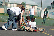 German band hip hop band Blumentopf and Red Bull skater Mack McKelton from Berlin visited Gugulethu on Saturday May 22nd to share some skateboarding, soccer, basketball and music skills and time with the local kids on behalf of SkateAid.org. Image by Greg Beadle