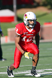 15 October 2011: Tyrone Walker during an NCAA football game between the University of South Dakota Coyotes and the Illinois State Redbirds (ISU) at Hancock Stadium in Normal Illinois.