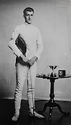 Frank Hoppé, in fencing uniform with awards, England, UK, 1916