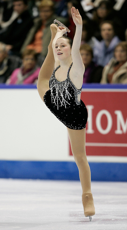 London, Ontario ---10-01-15--- Rylie McCulloch-Casarsa competes in the women's short program at the 2010 BMO Canadian Figure Skating Championships in London, Ontario, January 15, 2010. .GEOFF ROBINS/Mundo Sport Images..