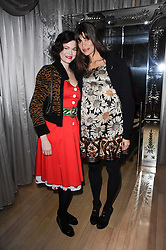 Left to right, JASMINE GUINNESS and LISA BILTON at The Rodial Beautiful Awards in aid of the charity Kids Company held in the Billiard Room at The Sanderson, 50 Berners Street, London on 3rd February 2010.