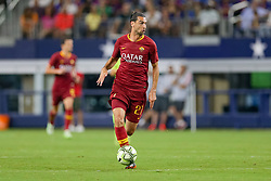 July 31, 2018 - Arlington, TX, U.S. - ARLINGTON, TX - JULY 31: AS Roma midfielder Javier Pastore (27) brings the ball up the field during the International Champions Cup between FC Barcelona and AS Roma on July 31, 2018 at AT&T Stadium in Arlington, TX.  (Photo by Andrew Dieb/Icon Sportswire) (Credit Image: © Andrew Dieb/Icon SMI via ZUMA Press)