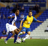 Photo: Mark Stephenson.<br /> Birmingham City v Hereford United. Carling Cup. 28/08/2007.Birmingham's Neil Danns with the ball