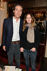ANTOINE DE GANAY and PAOLA PETROBELLI at the Pig Pledge Evening at Club no41, 41 Conduit Street, London on 10th March 2014.