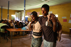 Two actors perform a series of skits put on by the Fistula Girls Club and the Community-based Reproductive Association in Shende Village, Amhara Region, Ethiopia on May 16, 2007. This is one of many events hosted by the groups to discourage early marriage and other harmful traditional practices in the Bure district.