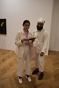 johanna tagadon; jatinder singh durmilay, The Critical Edge, private view of work by Richard Tuttle,Pace,  London. 12 April 2017