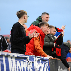 TELFORD COPYRIGHT MIKE SHERIDAN 3/11/2018 - GOAL. AFC Telford fans celebrate after Shane Sutton of AFC Telford scores to make it 1-0 during the Vanarama Conference North fixture between Alfreton Town vs AFC Telford United.