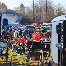 Gordonville, PA, USA / March 10, 2018: The annual Lancaster County Mud Sale at the Gordonville Fire Company offers many different items for sale to raise funds.