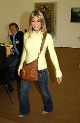 Pop singer RACHEL STEVENS at a private view of the 2004 Frieze Art Fair - a major exhibition attended by most of the leading contempoary art dealers held in Regents Park, London on 14th October 2004.NON EXCLUSIVE - WORLD RIGHTS