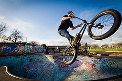One of the last remaining 70s skateparks, Harrow skateboard park, Byron Park, West London. MR