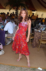 Singer MYLEENE KLASS at the Veuve Clicquot sponsored Gold Cup Final or the British Open Polo Championship held at Cowdray Park, West Sussex on 17th July 2005.<br /><br />NON EXCLUSIVE - WORLD RIGHTS