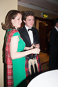 PEERDITA FRASER; SIMON FRASER, The Royal Caledonian Ball 2013. The Great Room, Grosvenor House. Park lane. London. 3 May 2013.