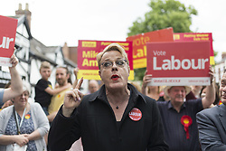 June 1, 2017 - CHESHIRE, ENGLAND - FRODSHAM , CHESHIRE  , UK.  ..Stand-up comedian and actor Eddie Izzard joins Labour Party candidates on the campaign trail today (Thursday 1st June 2017) Pictured on Frodsham Main Street, Frodsham, Cheshire to support Mike Amesbury. Recent polls have shown a narrowing in the gap between Labour and the Conservatives in the run up to the 2017 General Election. (Credit Image: © Chris Bull/London News Pictures via ZUMA Wire)