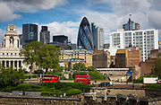 View of the city of London from the Tower of London