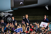 President Donald J. Trump arrives during a 'Make America Great Again' rally in Duluth, Minnesota, U.S. on Wednesday, Sept. 30, 2020. Trump and Democratic nominee Joe Biden began their first debate on an acrimonious note and quickly made it personal, with each candidate interrupting and talking over each other. Photographer: Ben Brewer/Bloomberg