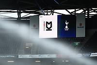 Football - 2021 / 2022 Season - Friendly - MK Dons vs Tottenham Hotspur - Stadium mk<br /> <br /> A detail of the scoreboard.<br /> <br /> COLORSPORT/Ashley Western