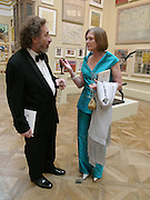 Howard Jacobson and Anna Ford. Royal Academy Annual dinner to celebrate the opening of the Summer exhibition. Royal Academy. Piccadilly. London. 1 June 2005.  ONE TIME USE ONLY - DO NOT ARCHIVE  © Copyright Photograph by Dafydd Jones 66 Stockwell Park Rd. London SW9 0DA Tel 020 7733 0108 www.dafjones.com