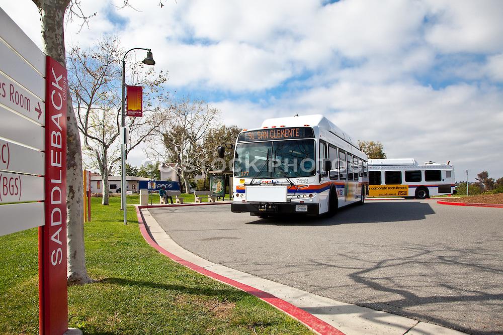 OCTA Bus Leaving Saddleback College Heading to San Clemente