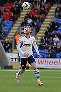 Bolton's Tim Ream in action.  Skybet championship match, Bolton Wanderers v Blackburn Rovers at the Reebok Stadium in Bolton, England on Saturday 1st March 2014.<br /> pic by David Richards, Andrew Orchard sports photography.