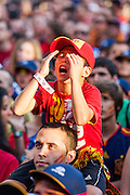 Young fan regrets the failure goalscoring opportunity of the Spanish team