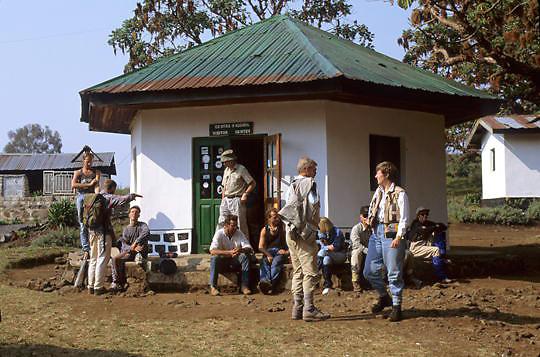 Zaire, Africa. Visitor center at Kahuzi-Biega National Park. Sanctuary for Lowland Gorillas.
