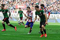 Atletico de Madrid´s Tiago Cardoso and Athletic Club´s Oscar de Marcos during 2014-15 La Liga match between Atletico de Madrid and Athletic Club at Vicente Calderon stadium in Madrid, Spain. May 02, 2015. (ALTERPHOTOS/Luis Fernandez)
