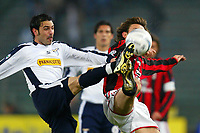Roma 29/2/2004 Lazio Milan 0-1<br /> Stefano Fiore (Lazio) and Andrea Pirlo (Milan)<br /> Photo Andrea Staccioli Graffiti