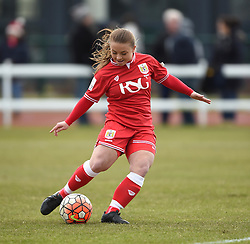 Paige Sawyer of Bristol City Women warms up during half-time in the FA Cup fourth round game between Bristol City Women and Yeovil Town Ladies on 28 February 2016 in Bristol, England - Mandatory by-line: Paul Knight/JMP - Mobile: 07966 386802 - 28/02/2016 -  FOOTBALL - Stoke Gifford Stadium - Bristol, England -  Bristol City Women v Yeovil Town Ladies - FA Cup fourth round